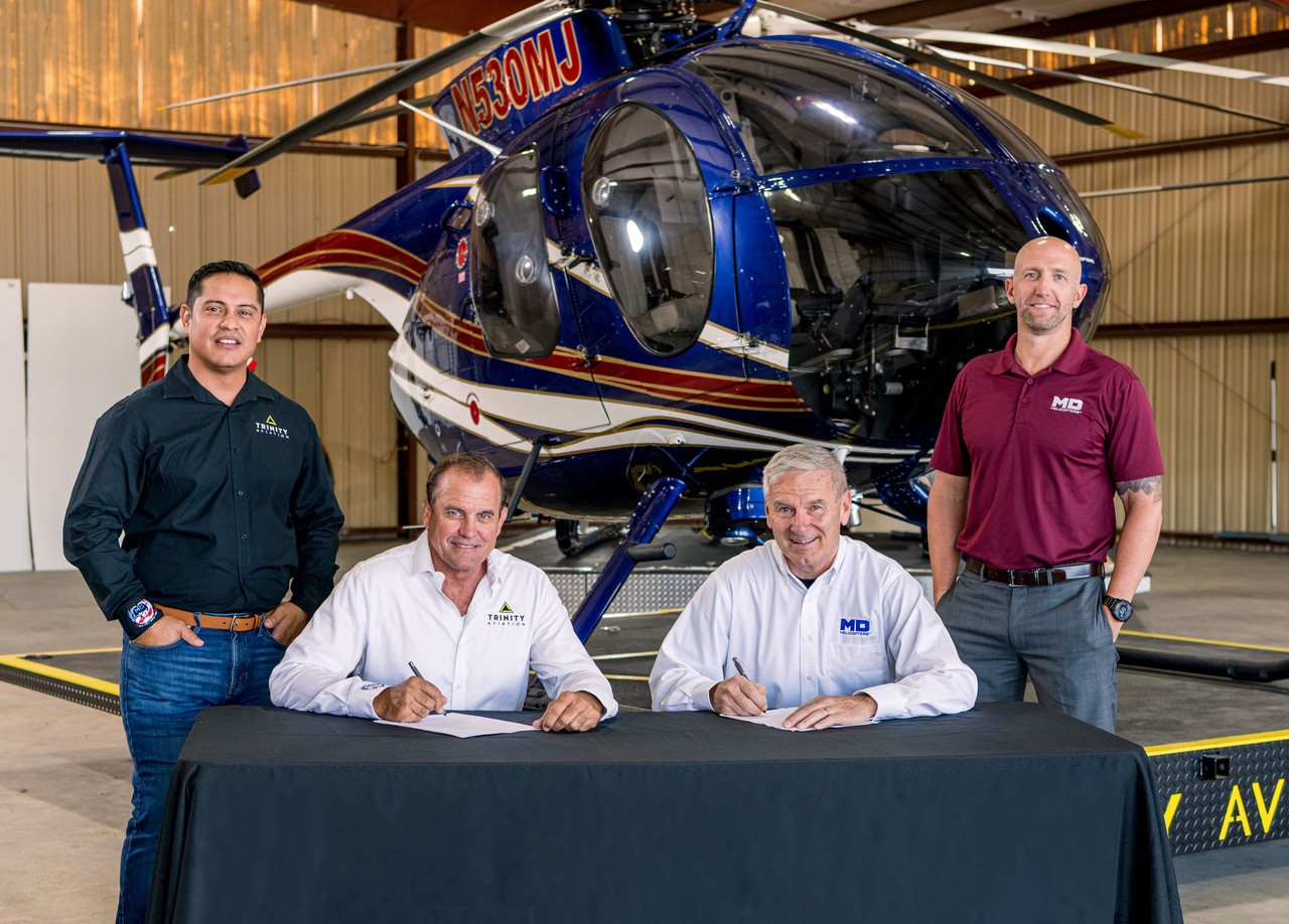 MDHI bolsters long-standing relationship with Trinity Aviation